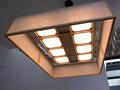 かみのやま温泉の旅館「名月荘」に設置されている有機EL照明。柔らかな光が、客室をリラックスできる空間に演出する。