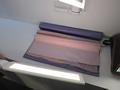 「オーガニックライト・匠」。これにより、織物の色がはっきりと分かるようになった。