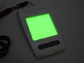 医療用照明を緑色に発光させたもの。これにより、静脈の位置が分かりにくい患者でも確認しやすくなるという。